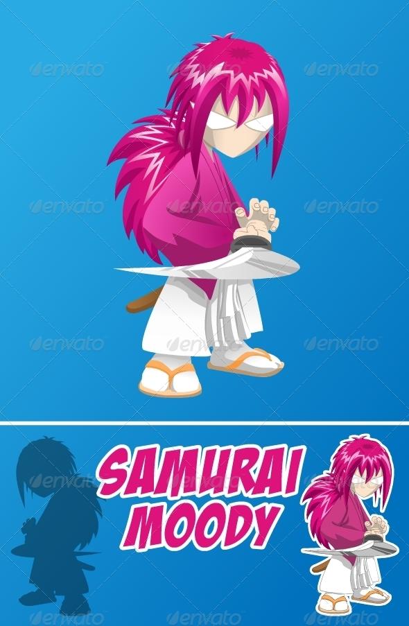 Samurai Moody - Characters Vectors