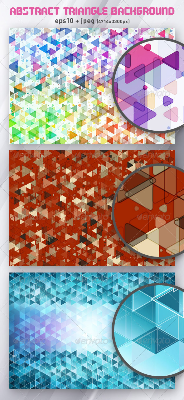 3 Abstract Triangle Backgrounds - Backgrounds Decorative