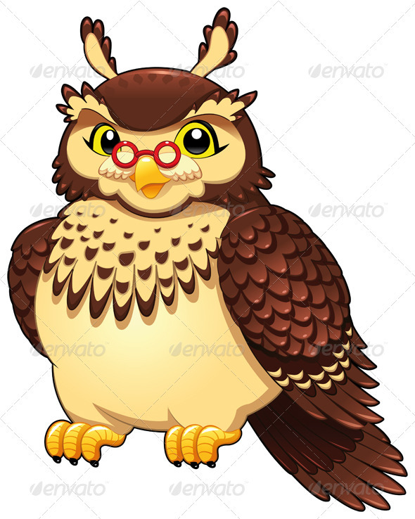 Funny owl.  - Animals Characters