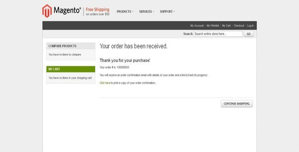 Print Order Confirmation/ Receipt as Guest User - CodeCanyon Item for Sale