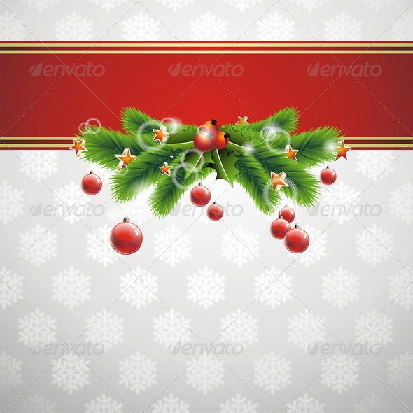 Vector illustration on a Christmas theme. - Christmas Seasons/Holidays