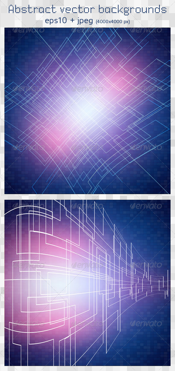 2 Abstract Vector Backgrounds - Backgrounds Decorative
