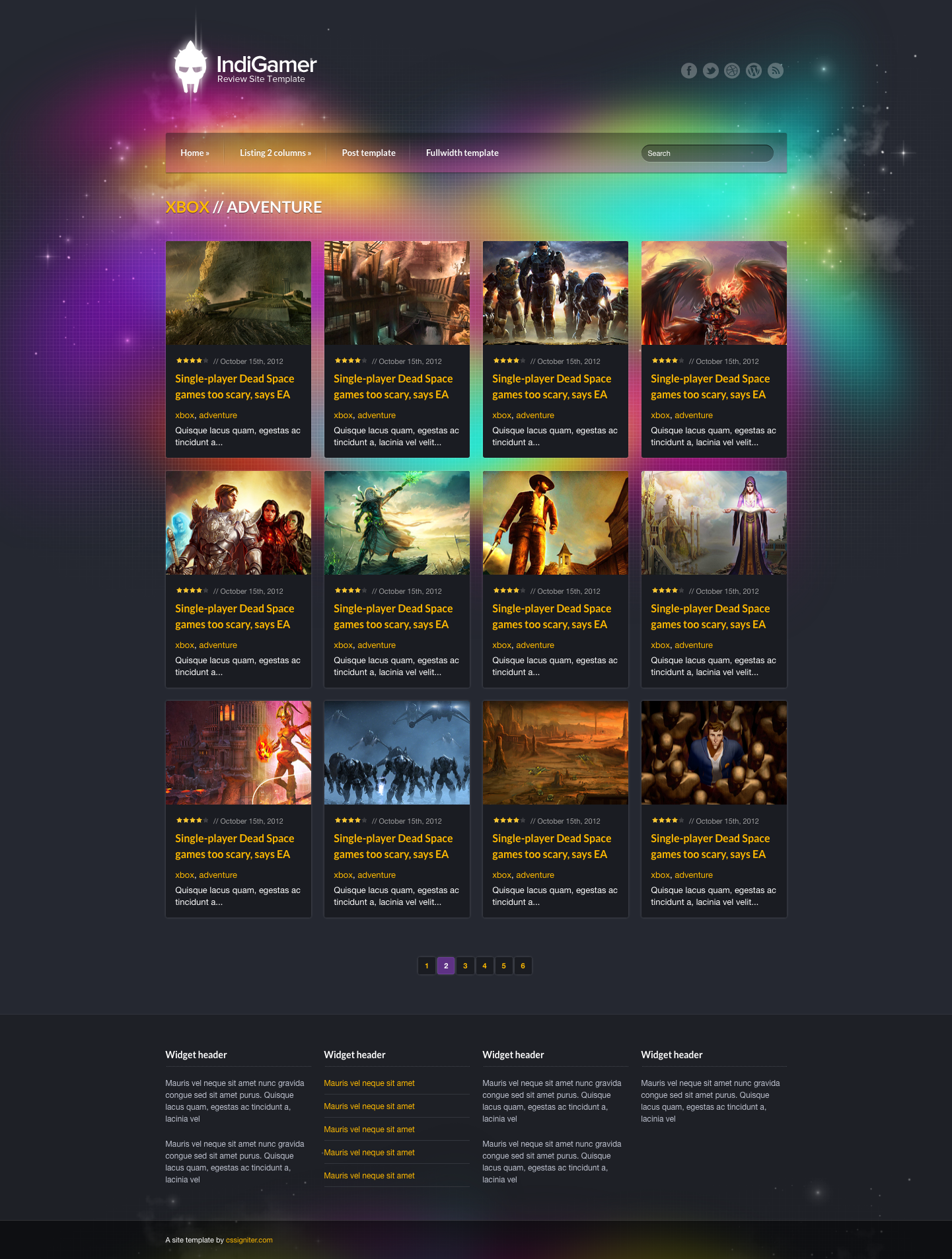 Indigamer - Responsive Review Site Template by cssigniter | ThemeForest