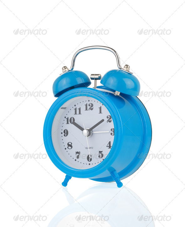 alarm clock watch isolated on white - Stock Photo - Images