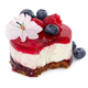 Cheesecake with fresh blueberries and raspberries, blueberry jam and jelly - PhotoDune Item for Sale