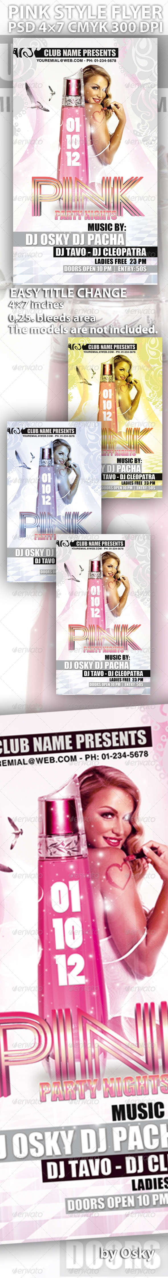 Pink Style Flyer - Clubs & Parties Events