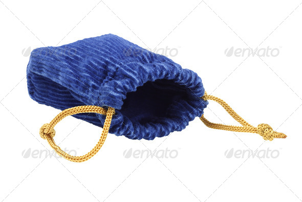 Corduroy Fabric Pouch - Stock Photo - Images