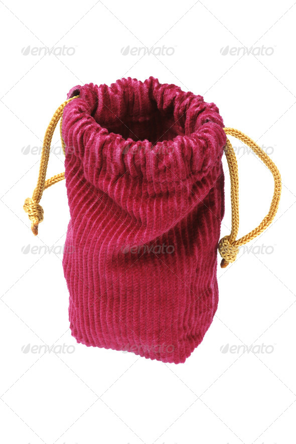 Empty Corduroy Fabric Pouch - Stock Photo - Images