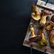 Wild mushrooms on dark background - PhotoDune Item for Sale