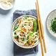 Vegan asian noodles served in bowl - PhotoDune Item for Sale