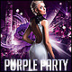 Purple Party Poster/Flyer - GraphicRiver Item for Sale