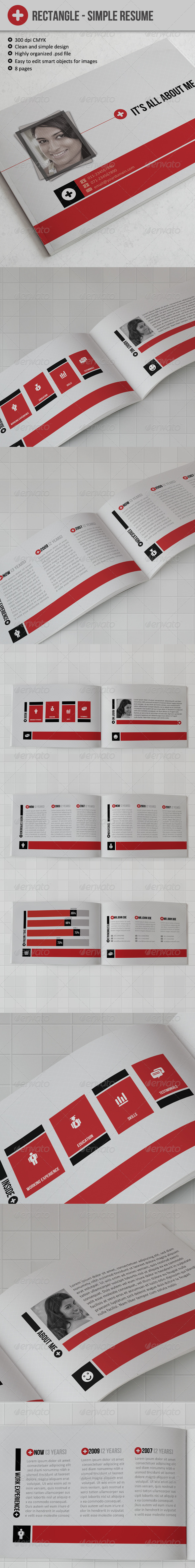 Rectangle - Simple Resume - Resumes Stationery