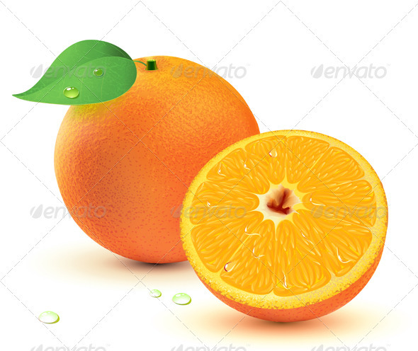 Juicy oranges  - Food Objects