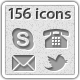 156 Web Icons - Shape Layer - GraphicRiver Item for Sale