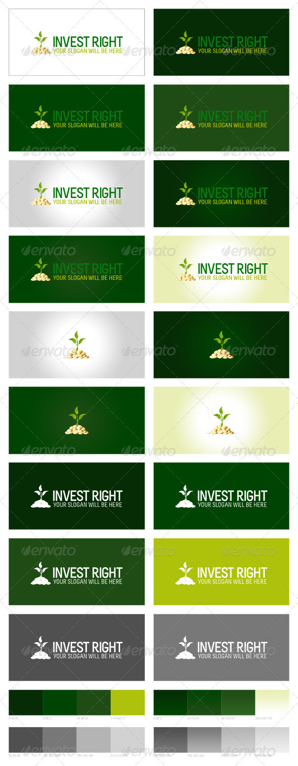 Invest Right Logo - Nature Logo Templates