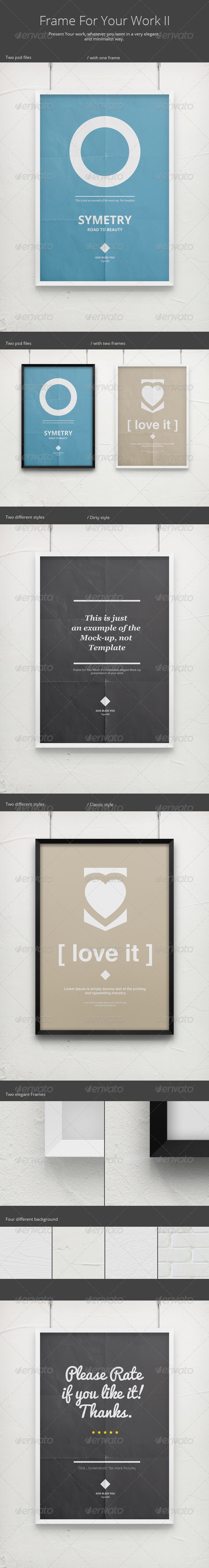 Frame For Your Work 2 - Poster Mock-Up - Posters Print
