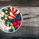Healthy fresh fruit and berry salad with blueberry, strawberry, kiwi, raspberry, banana - PhotoDune Item for Sale