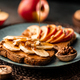 Toasts with peanut butter, apple, banana, walnut and honey - PhotoDune Item for Sale
