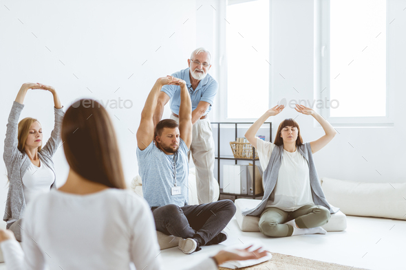 Stretching the muscles - Stock Photo - Images