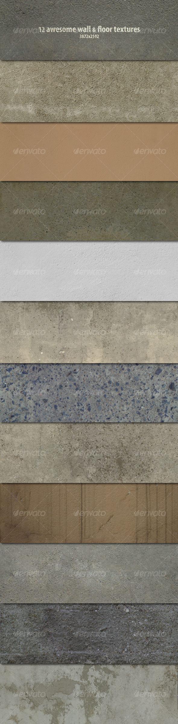 12 Wall & Floor Textures - Concrete Textures