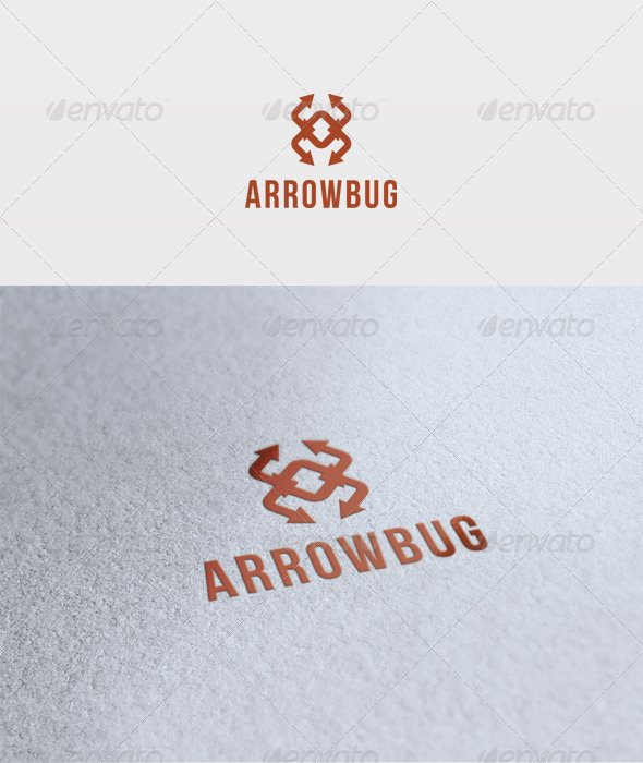 Arrow Bug Logo - Vector Abstract