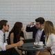 Young business coworkers team discussion corporate work at office. Business team work together. - PhotoDune Item for Sale