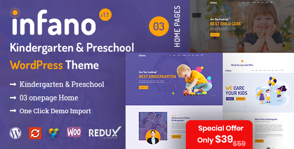 Infano - Kindergarten & Preschool WordPress Theme