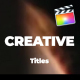 Creative And Modern Titles For FCPX