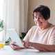 Granny uses the tablet - PhotoDune Item for Sale