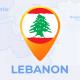 Lebanon Map - Lebanese Republic Travel Map