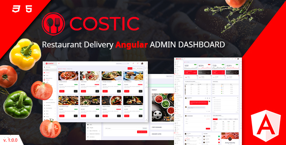 Marvelous Costic | Food Dashboard Template