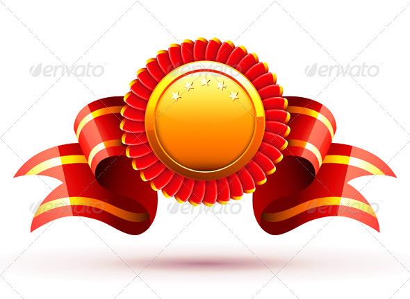 Badge and ribbon - Decorative Symbols Decorative