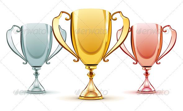 Three trophies - Conceptual Vectors