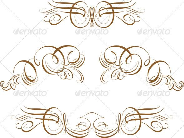 Scroll set - Flourishes / Swirls Decorative