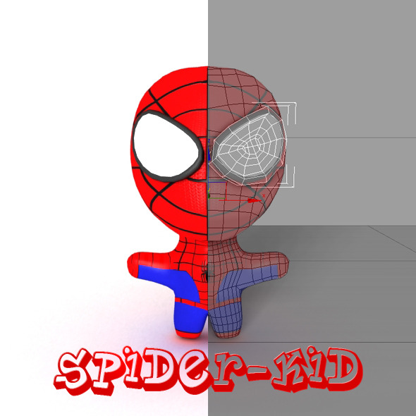 Spider-kid - 3DOcean Item for Sale
