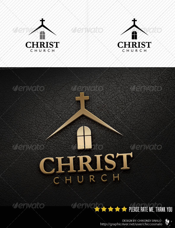 Christ Church Logo Template - Buildings Logo Templates