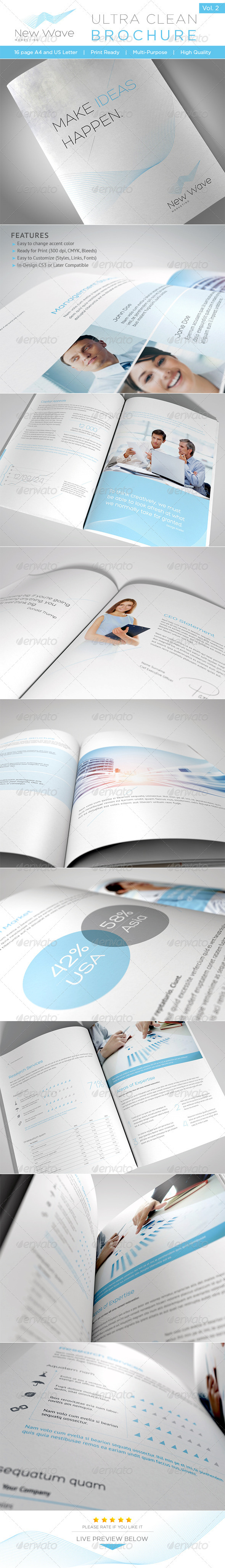 Ultra Clean Brochure Vol. 2 - Brochures Print Templates