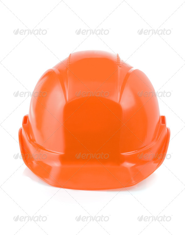 construction helmet tool isolated on white - Stock Photo - Images