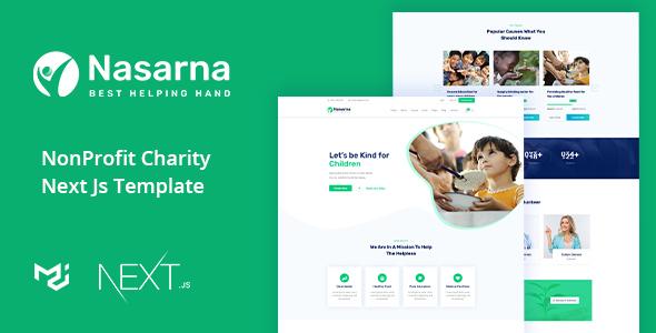 Nasarna - Charity Nonprofit Next Js Template