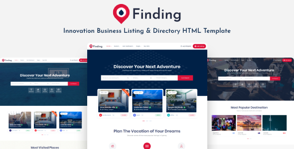 Finding - Directory & Listings HTML Template