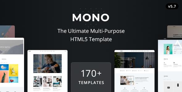 Mono – Multi-Purpose HTML5 Template