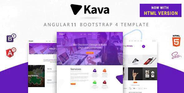 Kava - Angular 10, Bootstrap 4 and Html Multipurpose Site Template