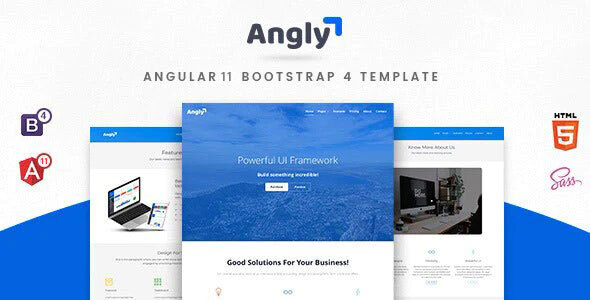 Angly - Angular 10 Bootstrap 4 Multipurpose Site Template