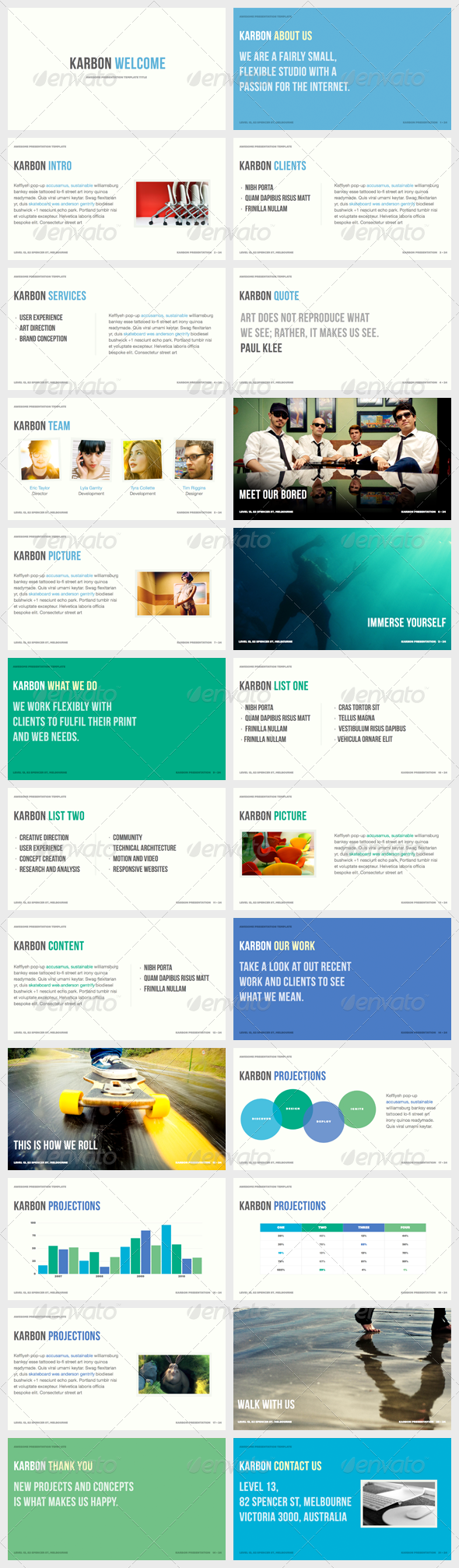 Karbon - Powerpoint Presentation Template - PowerPoint Templates Presentation Templates
