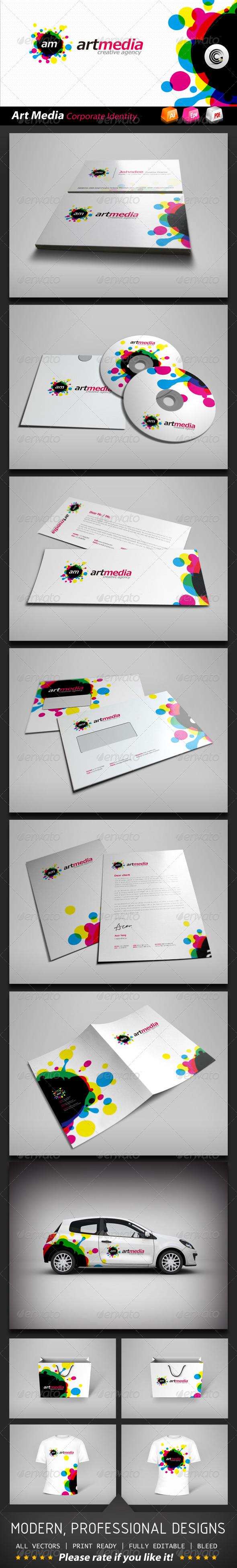 Art Media Corporate Identity - Stationery Print Templates