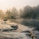 Gorgeus morning light among the mist on the small dam - PhotoDune Item for Sale
