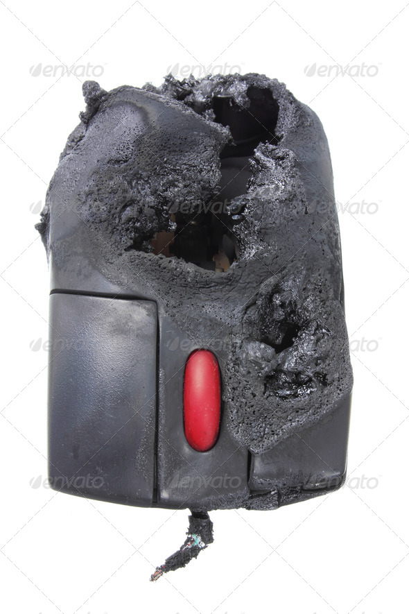 Burnt Computer Mouse - Stock Photo - Images