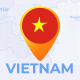 Vietnam Map - Socialist Republic of Vietnam Travel Map - VideoHive Item for Sale