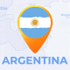 Argentina Map - Argentine Republic Travel Map - VideoHive Item for Sale