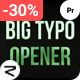 BIG Typo | Opener | Premiere Pro | Morgrt - VideoHive Item for Sale